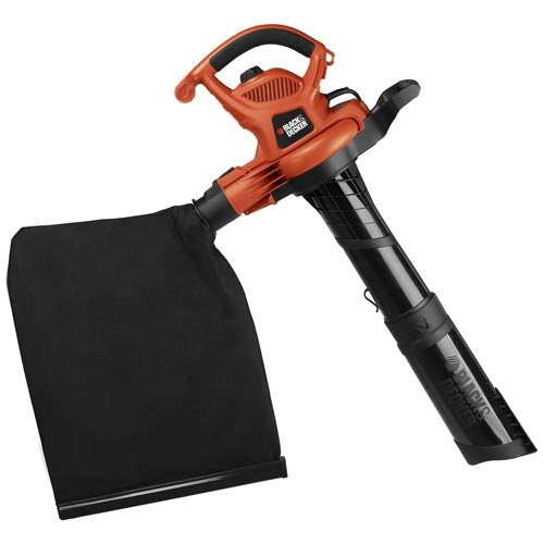 BLACK+DECKER 3-in-1 Electric Leaf Blower, Leaf Vacuum, Mulcher, 12-Amp (BV6600)
