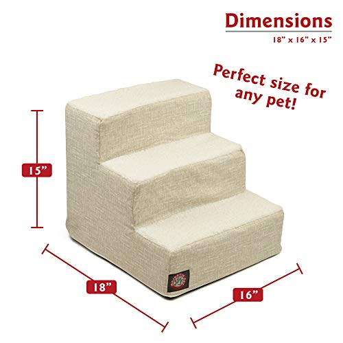 Majestic Pet Frappe Palette Heathered Portable Foam 3 Step Pet Stairs | Steps for Dogs & Cats | Dog & Cat Ramp | Perfect for Bed & Sofa | Indoor Only | Max Weight: Up to 25 lbs.