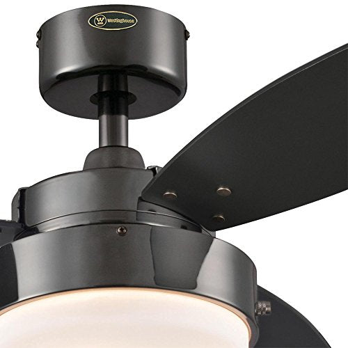 Westinghouse Lighting 7876400 Alloy 42-Inch Gun Metal Indoor Ceiling Fan, Light Kit with Opal Frosted Glass,