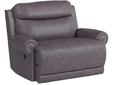 Ashley Furniture Signature Design Austere Manual Oversized Recliner - Gray
