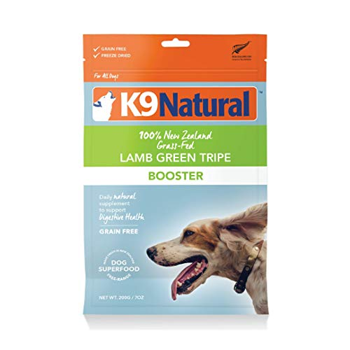 Freeze Dried Dog Food Booster By K9 Natural - Perfect Grain Free, Healthy, Hypoallergenic Limited Ingredients For All Dogs - Raw, Freeze Dried Mixer - 100% Green Tripe Nutrition For Dogs - 7Oz Pack