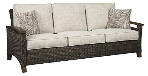 Signature Design by Ashley P750-838 Paradise Trail Sofa with Cushion, Medium Brown