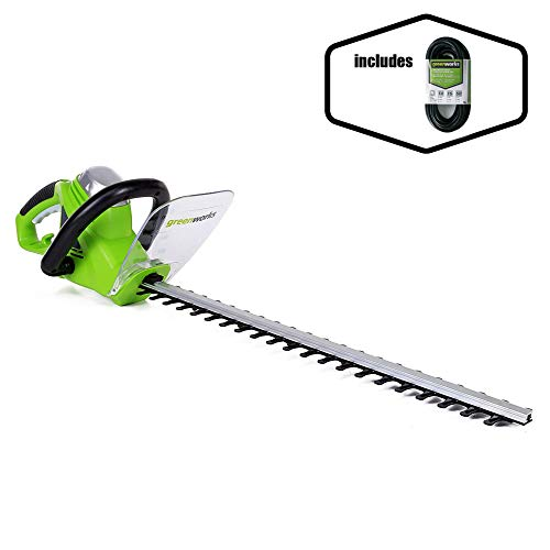 Greenworks 22-Inch 4-Amp Corded Hedge Trimmer and 50-Foot Indoor & Outdoor Extension Cord