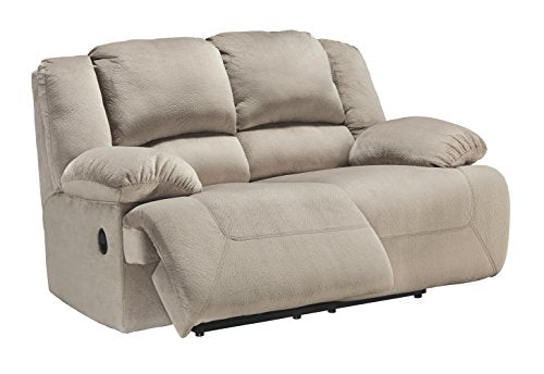 Ashley Furniture Signature Design - Toletta Loveseat Recliner - Manual Pull Tab Reclining - Contemporary - Granite