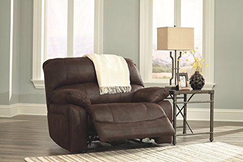 Ashley Furniture Signature Design - Zavier Oversized Power Recliner - Contemporary Reclining Couch - Truffle