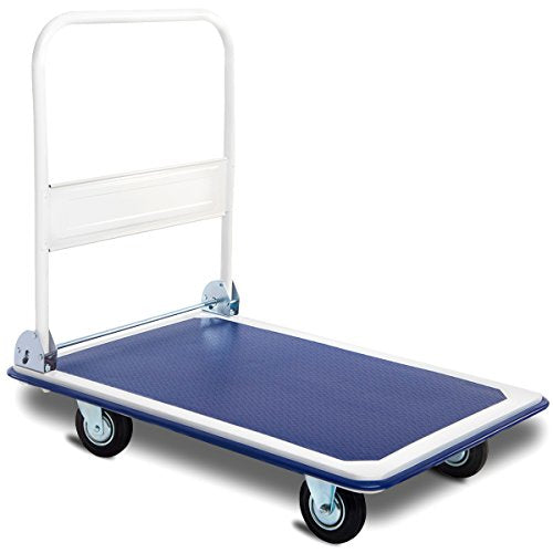 Giantex 5 660lbs Platform Cart Dolly Folding Foldable Moving Warehouse Push Hand Truck