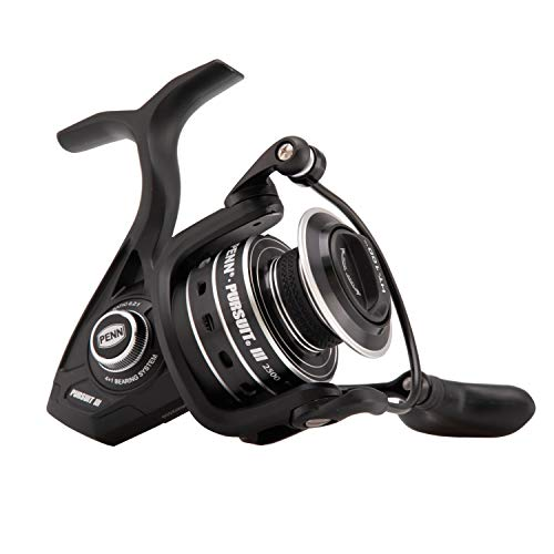 Penn Pursuit III Spinning Fishing Reel, Black/Silver, 2500