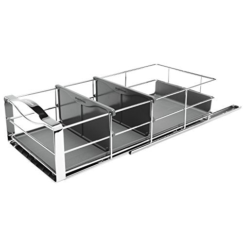 simplehuman 9 inch Pull-Out Cabinet Organizer, Heavy-Gauge Steel Frame