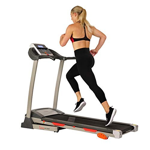 Sunny Health & Fitness Treadmill Folding Motorized Running Machine