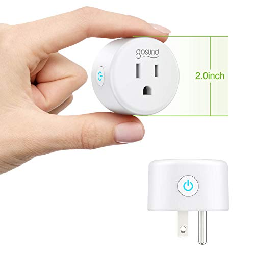 Wifi Smart Plug Gosund Mini Outlet Work with Alexa, Google Home, IFTTT, 2.4G Wifi Only, No Hub Required, ETL and FCC Listed (4 Pack) [Upgraded Version]