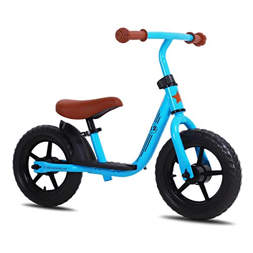 JOYSTAR 12 inch Balance Bike for 2 3 4 5 Year Old Boys, Child Glider Bicycle Without Pedal, Pedaless Cycle for Children, Blue