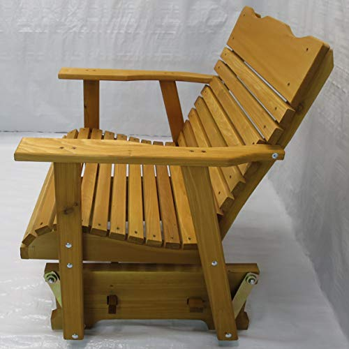 Kilmer Creek 2' Cedar Porch Glider W/stained Finish, Amish Crafted