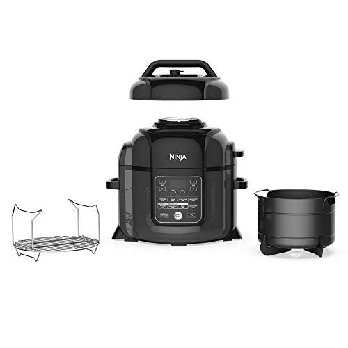 Ninja OP401 Foodi 8-Quart Pressure, Steamer, Air Fryer All-in- All-in-One Multi-Cooker, Black/Gray