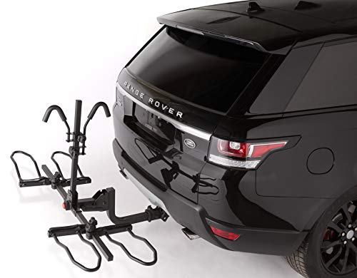 Overdrive Sport 2-Bike Hitch Mounted Rack - Smart Tilting, Platform Style Standard, Fat Tire Electric Bikes