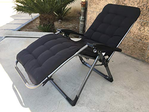 Four Seasons with Cushion Upgraded Heavy Duty Zero Gravity Chair Lounge Recliner Folding Adjustable Portable Office Patio Beach Pool Side Sports Indoor Outdoor Camping with Cup Holder