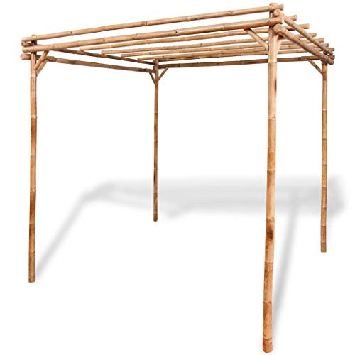 "Tidyard Pergola Bamboo Outdoor for Garden 76.8""x76.8""x76.8"""