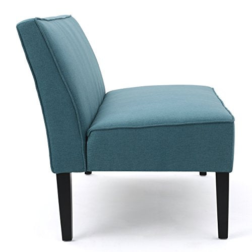 Christopher Knight Home 299746 Charlotte Dark Teal Fabric Love Seat,