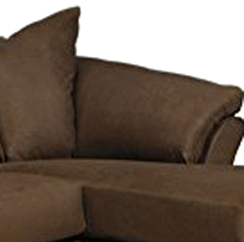Ashley Furniture Signature Design - Darcy Contemporary Microfiber Sofa Chaise - Café