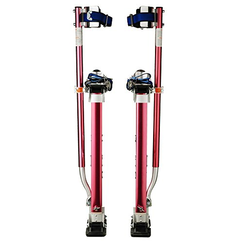 "1118 Pentagon Tool Professional 18""-30"" Red Drywall - Painting - Work Stilts Aluminum"