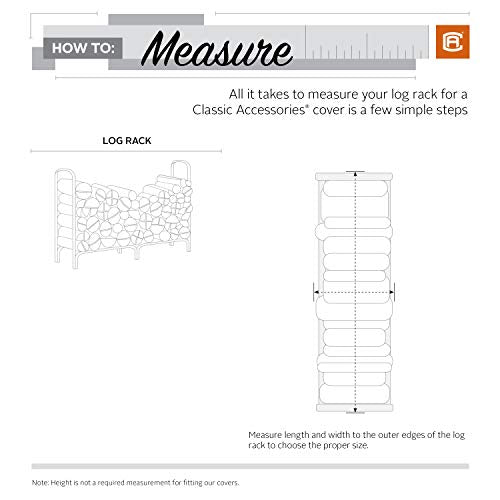 Classic Accessories Log Rack Cover, 4-Feet