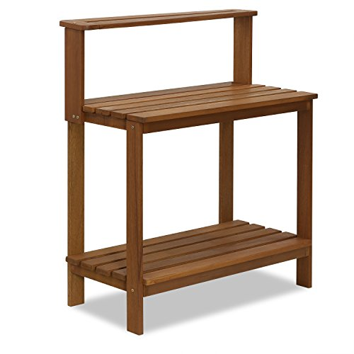 Furinno FG17478 Tioman Outdoor Patio Furniture Hardwood Potting Bench