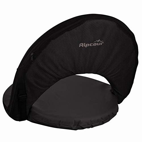 Alpcour Folding Stadium Seat - Deluxe 6-Position Reclining Waterproof Cushion Chair for Bleachers w/Storage Pocket, Shoulder Carry Strap & Thick Back w/Extra Padding for Superior Support & Comfort