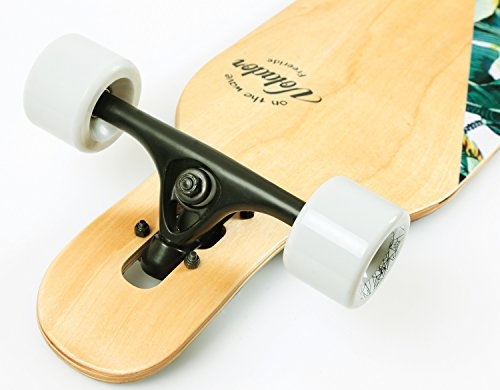VOLADOR 42inch Freeride Longboard Complete Cruiser (Drop Through Deck - Camber concave)(Banana Tree)