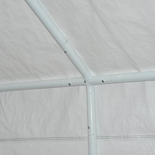 Outsunny 20' x 12' Heavy Duty Temporary Outdoor Carport Canopy Tent - Grey