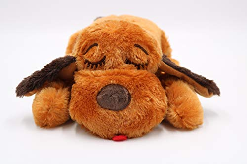 SmartPetLove Snuggle Puppy Behavioral Aid Toy, Brown Mutt