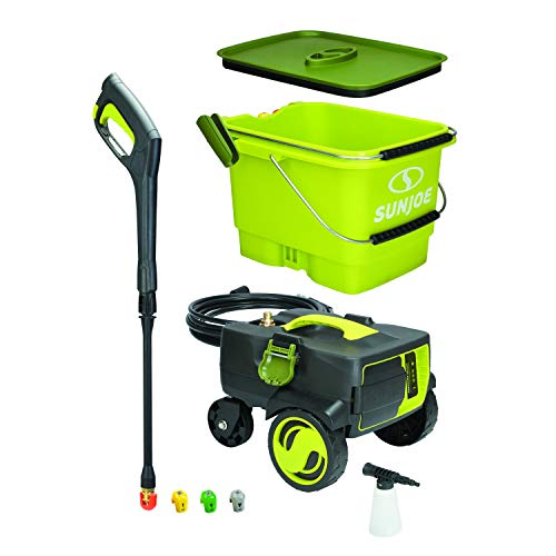Sun Joe SPX6001C iON 40V 4.0-Amp 1160 PSI Max Cordless Pressure Washer, Green