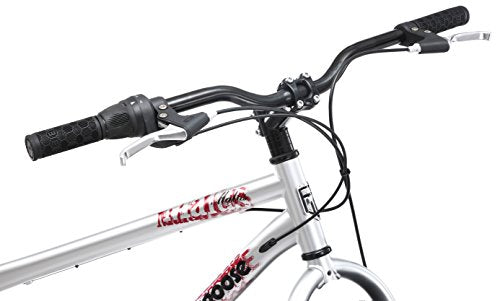 "Mongoose Men's Malus Cruiser Bicycle, 18""/Medium, Silver"