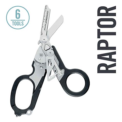 LEATHERMAN - Raptor Emergency Response Shears with Strap Cutter and Glass Breaker, Black with MOLLE Compatible Holster (FFP)