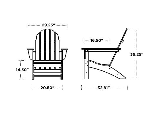 POLYWOOD Vineyard Adirondack Chair (Black)