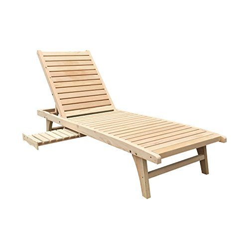 WALCUT Garden Patio Chaise Lounge Chair Foldable Back Adirondack Chair Adjustable Outdoor Furniture