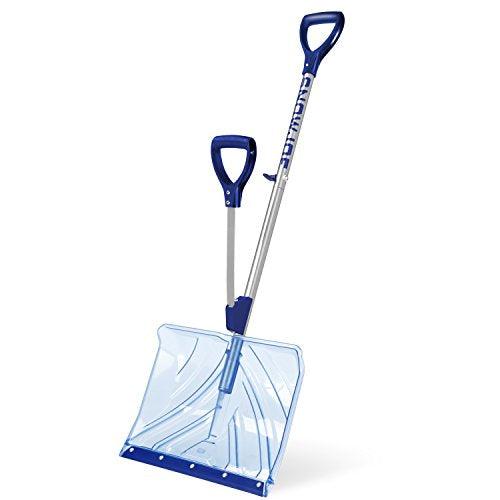 Snow Joe Shovelution SJ-SHLV02 18-IN Strain-Reducing Indestructible Shatter Resistant Polycarbonate Snow Shovel w/Spring Assisted Handle