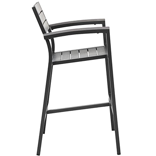 Modway EEI-1510-BRN-GRY Maine Bar Stool, One, Brown Gray