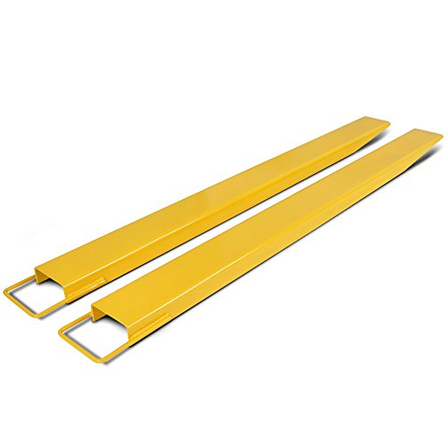 Titan Attachments Pallet Fork Extensions for Forklifts and Loaders, Steel, 72""