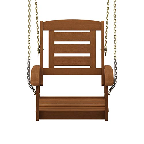 Furinno FG18414SC Tioman Porch Swing, 1-Seater Without Frame Natural