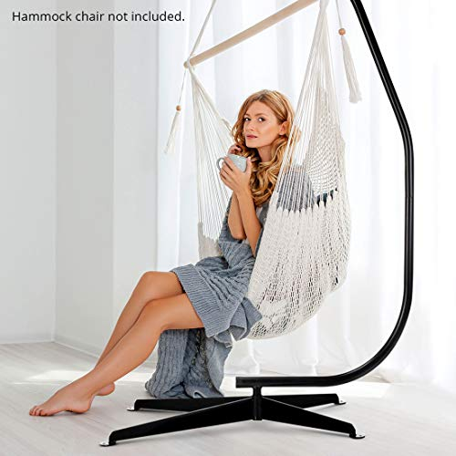 Zupapa Hanging Hammock Chair C-Stand Only for Air Porch Swing Chair, Heavy Duty 380lbs Capacity Come with Rug, Pegs and Hook,, Outdoor/Indoor