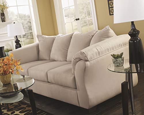 Ashley Furniture Signature Design - Darcy Contemporary Microfiber Sofa - Stone