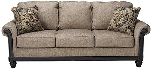Ashley Furniture Signature Design - Blackwood Traditional Style Sleeper Sofa - Queen Size Mattress Included - Taupe