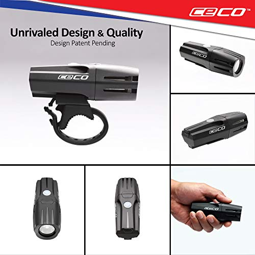 CECO-USA: 1,000 Lumen USB Rechargeable Bike Light - Tough & Durable IP67 Waterproof & FL-1 Impact Resistant- Super Bright Model F1000 Bicycle Headlight - For Commuters, Road Cyclists & Mountain Bikers