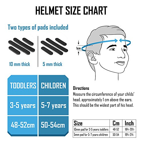 TeamObsidian Kids Bike Helmet [ Blue Shark ] - Adjustable from Toddler to Youth Size, Ages 3-7 - Durable Kid Bicycle Helmets with Fun Aquatic Design Boys Will Love - CPSC Certified - FunWave
