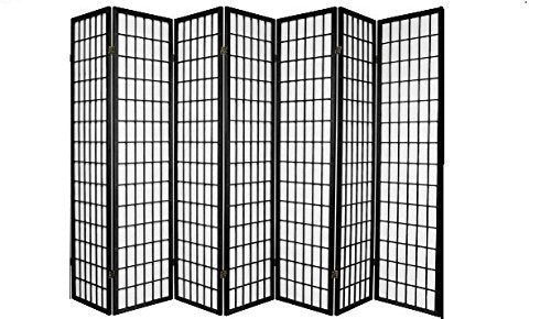 7 Panel Room Divider - Black by SQUARE FURNITURE