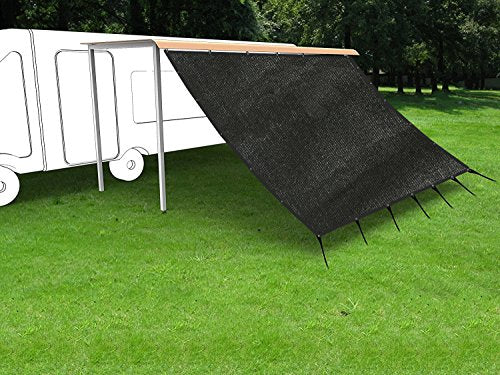 Shatex RV Awning Shade with 90% Privacy Screen Free Kit 8' x 10', Black