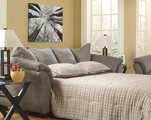 Darcy Contemporary Cobblestone Sleeper Sofa Full Mattress