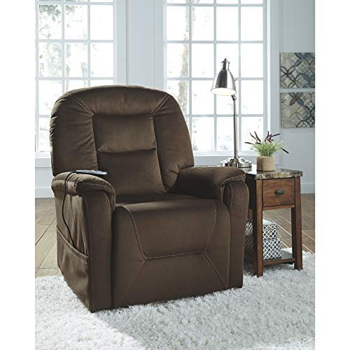 Signature Design by Ashley 2080112 Samir Power Lift Recliner, Coffee