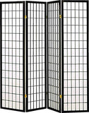 Legacy Decor 3 Panel Japanese Oriental Style Room Screen Divider Black Color