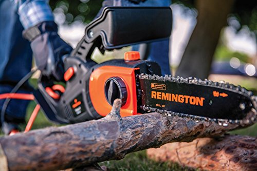 Remington RM1035P Ranger II 8-Amp Electric 2-in-1 Pole Saw & Chainsaw with Telescoping Shaft and 10-Inch Bar for Tree Trimming and Pruning