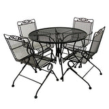 Glenbrook Black Patio Action Chair (2-Pack)
